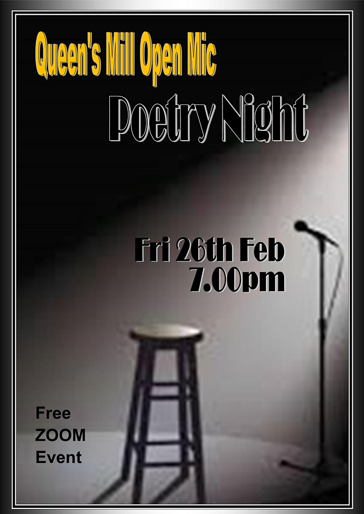 Queen's Mill Open Mic Poetry Family Night image