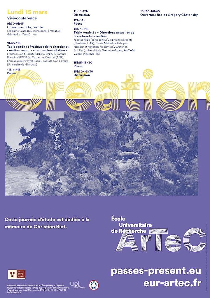 Image pour LA RECHERCHE-CRÉATION, ARCHÉOLOGIE ET AVENIR D'UN PARADIGME