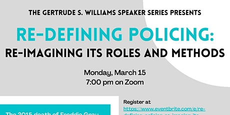 Re-Defining Policing— Re-imaging its Roles & Methods tickets