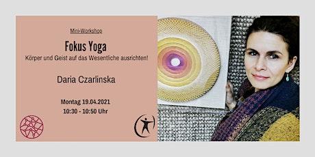 Power Frauen Online Woche - Fokus Yoga Tickets