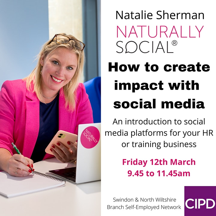 How to Create Impact with Social Media - Self Employed Network Event image