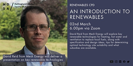 An introduction to renewables with David Reid Tickets