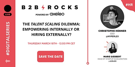 "The ""Talent Scaling"" dilemma: empowering internally or hiring externally? tickets"