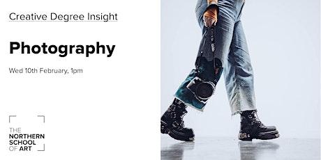 Creative Degree Insight: Photography tickets