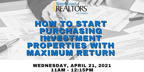 How to Start Purchasing Investment Properties With Maximum Return. tickets