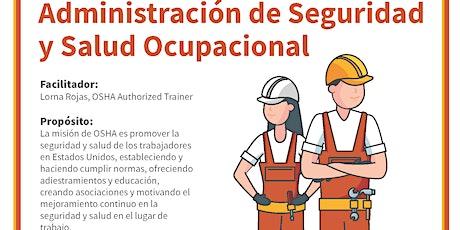 Taller en español: OSHA 10 Administración de Seguridad y Salud Ocupacional ingressos