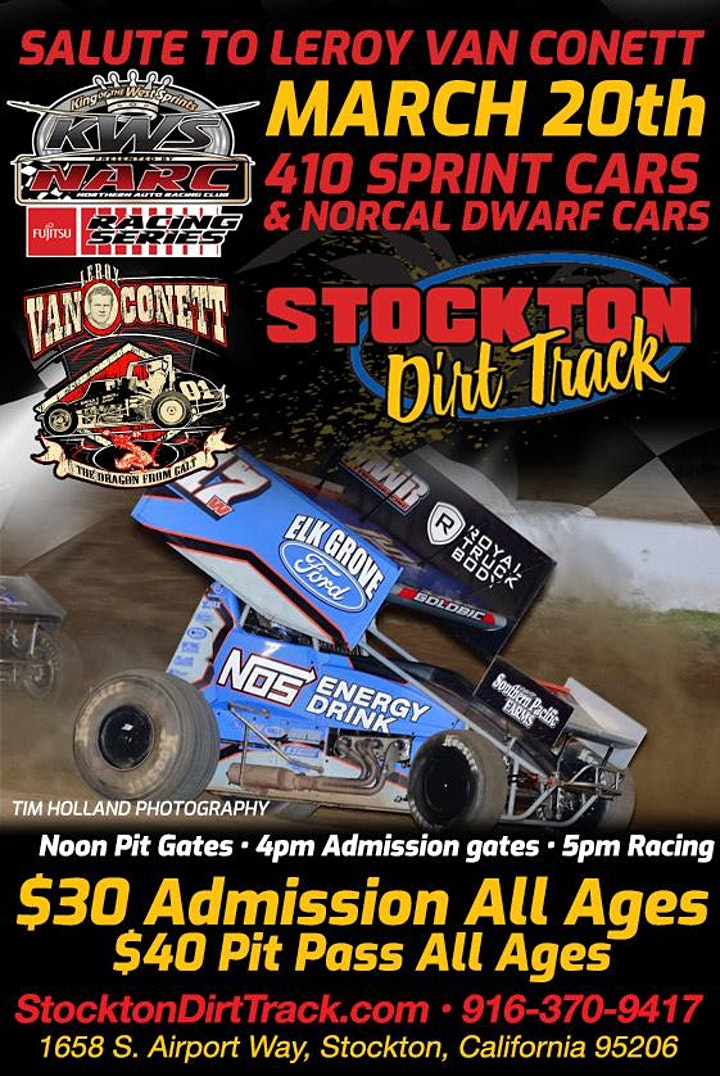 Salute to LeRoy Van Conett - 410 Sprint Cars and NorCal Dwarf Cars image