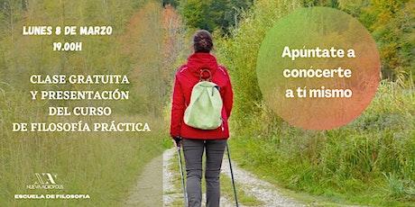 Charla gratuita y presentación del curso de filosofía práctica entradas