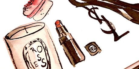 Beginners Illustration - Fashion & Beauty Montage - Watercolour Art Class tickets