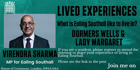 Lived Experiences Meeting (Dormers Wells & Lady Margaret) tickets