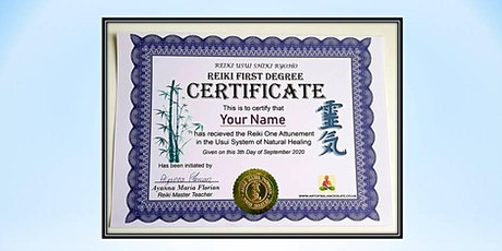 Certified Reiki Course First Degree tickets
