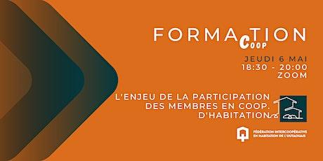 Forma(c)tion : La participation des membres en coopérative d'habitation billets