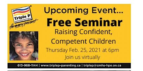 Triple P- Raising Confident Competent Children tickets