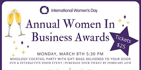 Women In Business Awards & Mixology Cocktail Party tickets