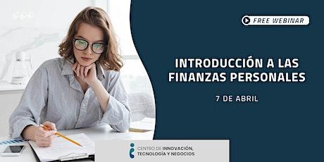 Webinar: Introducción a las finanzas personales entradas