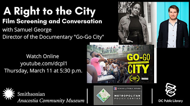 A Conversation and Screening of Go-Go City with Samuel George image