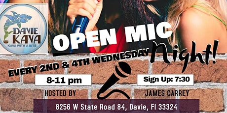 OPEN MIC @ DAVIE KAVA tickets