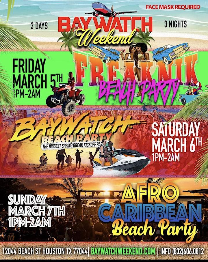 #BayWatchWeekend | 3Nights 3Days | Biggest Spring Break Kick Off Event!! image