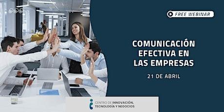 Webinar: Comunicación efectiva en las empresas boletos