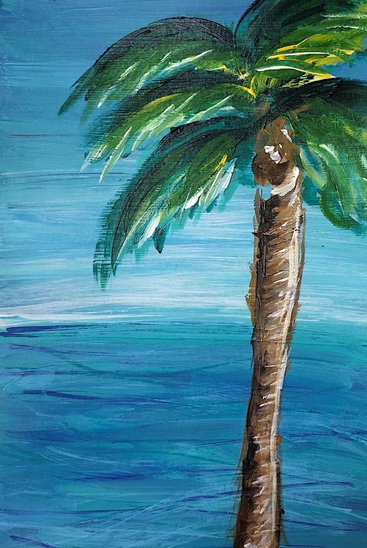 Palm Tree Palette Knife Art Class image
