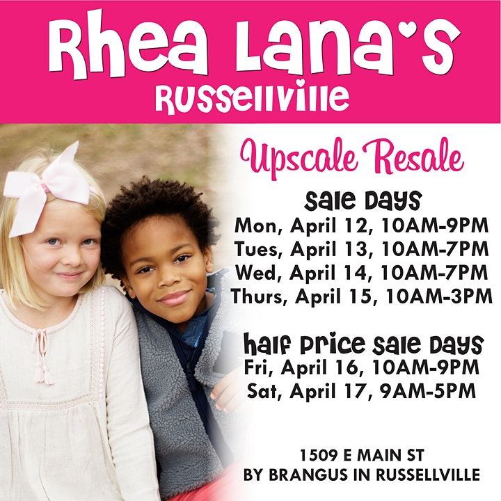 Rhea Lana's of Russellville Shopping Event Spring 2021 image