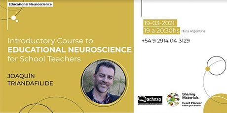 FREE Introductory Course to  EDUCATIONAL NEUROSCIENCE For School Teachers entradas