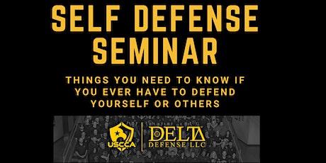 Free Self Defense Seminar tickets