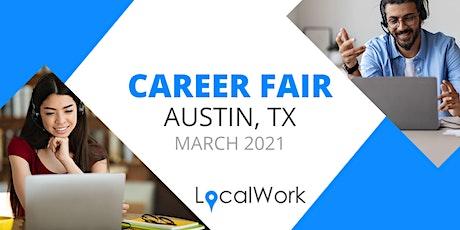 Austin TX Job Fair - March 2021 - VIRTUAL CAREER FAIR tickets
