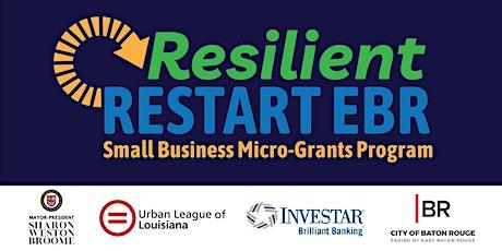 Resilient Restart EBR Info Session tickets