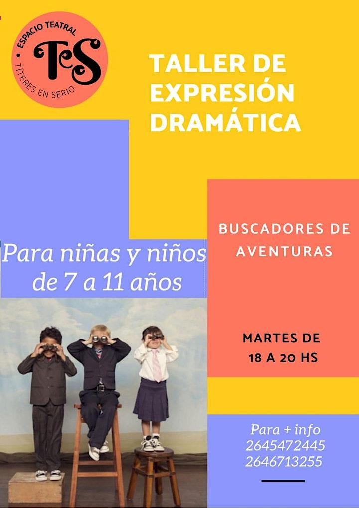 Imagen de TALLER DE EXPRESIÓN DRAMÁTICA - para 7 a 11 años-