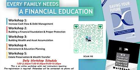 Copy of Financial Education Workshop-Daily Weekday Event 2021 tickets