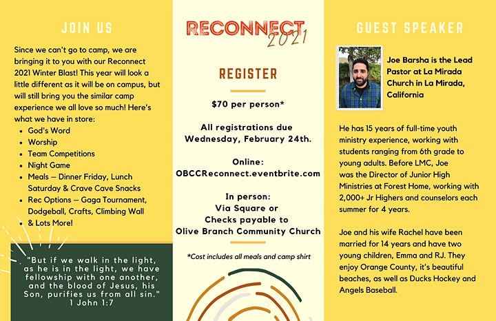 RECONNECT - Olive Branch Youth Winter Blast image