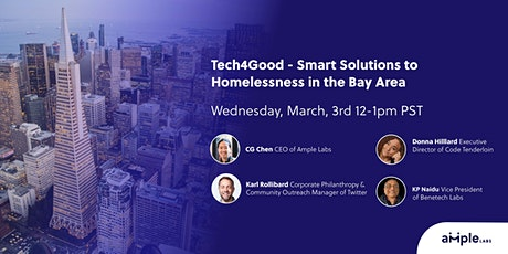 Tech4Good - Smart Solutions to Homelessness in the Bay Area tickets
