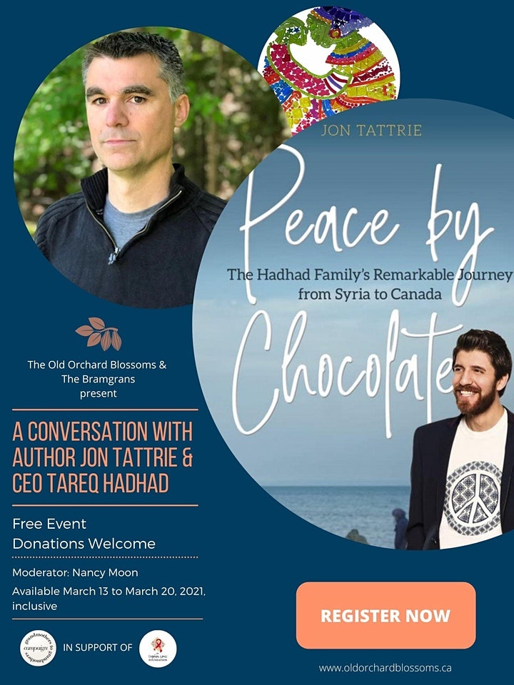 Peace by Chocolate: A Discussion with Jon Tattrie and Tareq Hadhad image