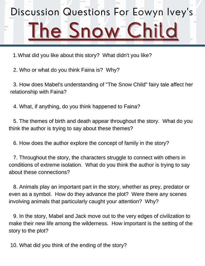The Snow Child - An Online Book Discussion image