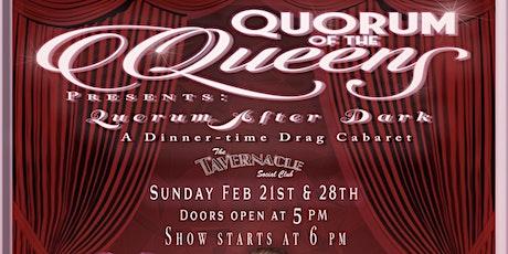 QUORUM QABARET PRESENTS: CELEBRITY IMPERSONATIONS - Sun. Feb. 28, 2021 tickets