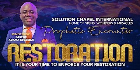 Prophetic Encounter - Restoration tickets