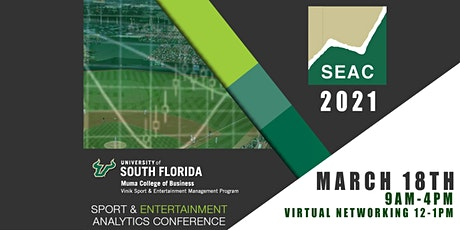 University of South Florida Sport & Entertainment Analytics Conference 2021 tickets