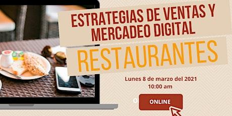 Estrategias de Ventas y Mercadeo Digital Restaurantes boletos