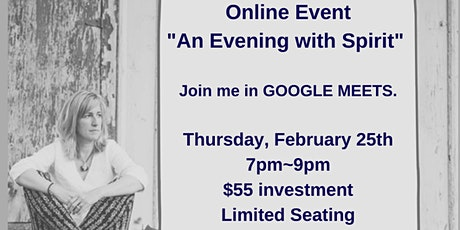 A Virtual Evening With Spirit-Thursday, February 25th tickets