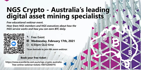 NGS Crypto Australia - Free Online Webinar tickets