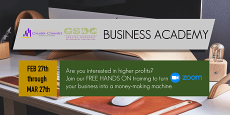 Business Academy  Q1 2021 tickets