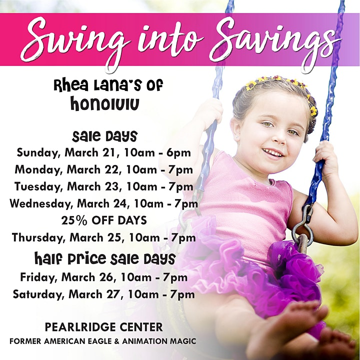 Rhea Lana's of Honolulu Spring & Summer Children's Consignment Sale image