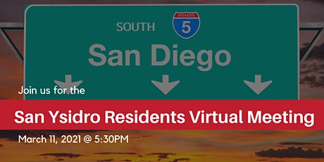 San Ysidro Residents: Virtual Meeting tickets