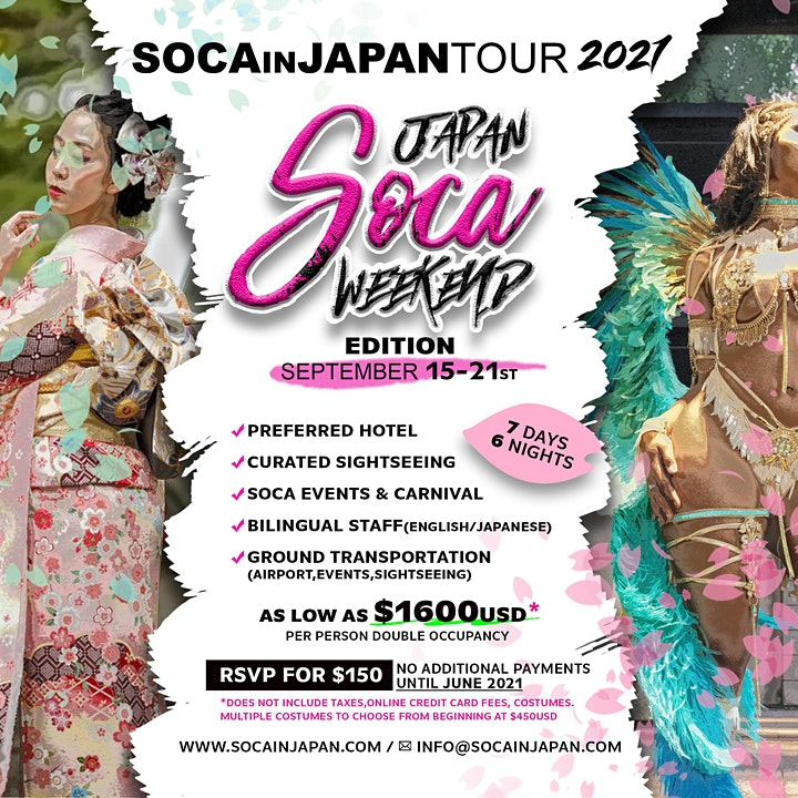 RSVP SOCA IN JAPAN TOUR 2021 image
