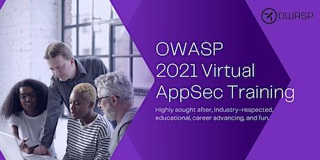 OWASP 2021 Virtual AppSec Training tickets