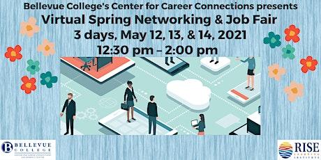 Bellevue College's Virtual Spring Networking & Job Fair 2021 tickets