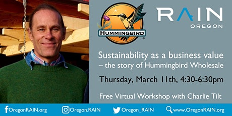 Sustainability as a business value– the story of Hummingbird Wholesale tickets
