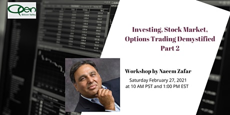 Investing, Stock Market, Options Trading Demystified - Part 2 tickets