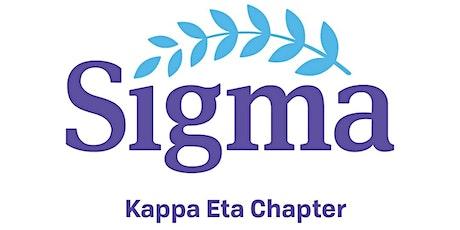 Sigma Nursing Kappa Eta Chapter, 2021 Induction tickets